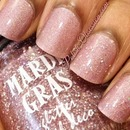 Catherine Arley 670 and Mardi Gras holographic glitter