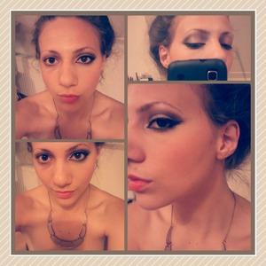 My face with half makeup