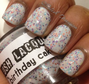 White jelly base with multicolored glitter