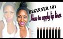 Beginner 101: How to apply/use lip liner (nude lip & bright lip)