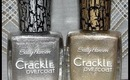 Review / Demo:  Sally Hansen Crackle Overcoat *Requested* w/ Special guest @ the end