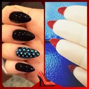 Christian Louboutin inspired Stiletto Nails