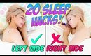 How to Fall Asleep FAST! 20 Life Hacks for Sleep Everyone Should Know!!