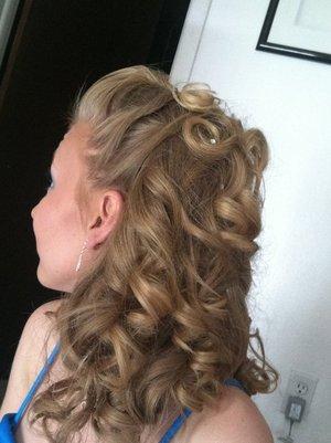 sisters prom hair