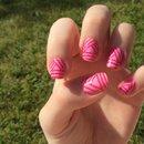 Pink basketcase nails <3