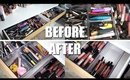 MAKEUP DECLUTTER | Brows, Mascaras, Lipsticks, & Liners | Kayleigh Noelle