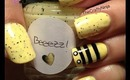 Bumble Bee Nails by The Crafty Ninja