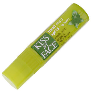 Kiss My Face Treat Mint Lip Balm with Organic Ingredients - SPF 15
