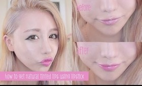 Korean style tinted lipstick tutorial - How to get a natural looking lip with lipstick