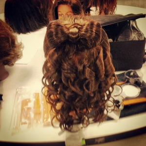 What I did in cosmetology school today :)