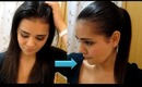 DIRTY HAIR INTO A SLEEK PONYTAIL (3 MIN ONLY)