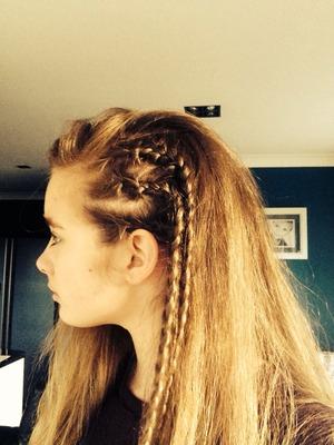 Got bored so I did my hair