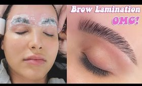 I TRIED BROW LAMINATION: New Brow Trend For Full Brows (vlog)