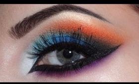 Arabic makeup (blue,orange,purple)