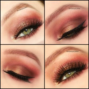 I used the 'I heart chocolate' palette by makeup revolution. Lashes red cherry number #202