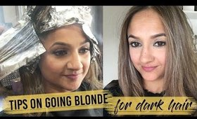 How to Go Blonde for Dark Hair