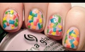Confetti Squares Nail Art Tutorial