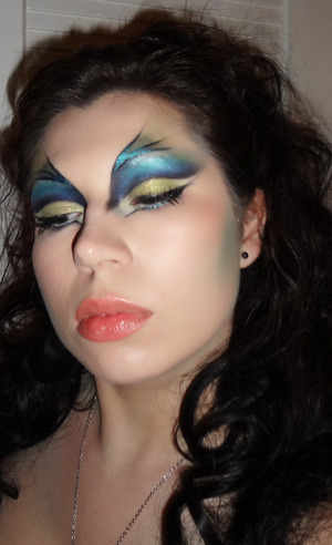 My sea nymph makeup for Halloween
