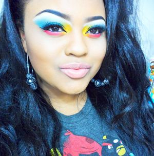 My Angry Birds Inspired Makeup! I have a tutorial posted on my YouTube channel.