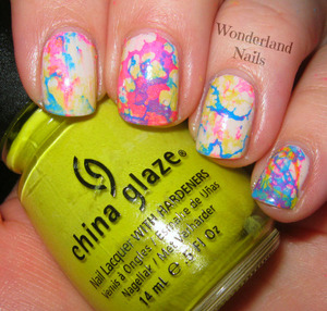 For more info please visit my blog http://wonderland-nails.blogspot.com/2013/06/multi-colored-water-spotted.html