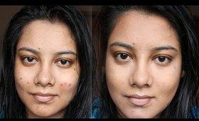 FOUNDATION ROUTINE \ HOW TO HIDE ACNE SCARS | INDIAN BEAUTY GURU SEEBA86
