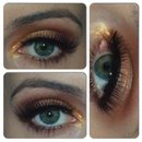 Gold and Cranberry Smokey Eye!