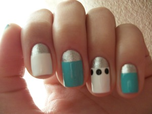 """Saw these on Kandee Johnson's blog and decided to do it on my nails. Kandee's blog is kandeej.com and they are under """"my nails in London"""""""
