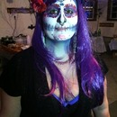 Friends DIY day of the dead makeup (: