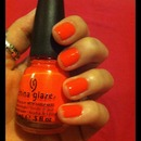Neon Orange Great for Summer (:
