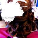 Pin curls Updo
