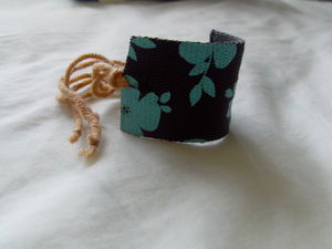 DIY Cuff Bracelet made from an old fabric belt.