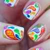 Colorful Patterned Paisley Nail Art