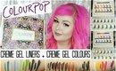 Colourpop Creme Gel Liners & Creme Gel Colours | Mini Review + Swatches