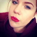 I love red lips for winter