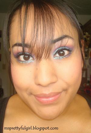 "E.L.F. 100 Eyeshadow Palette ""Red and Blue Make Purple"" http://msprettyfulgirl.blogspot.com/2011/06/fotd-red-and-blue-make-purple.html"