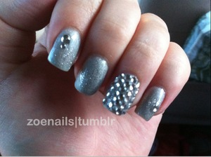 Silver and rhinestones