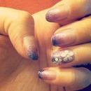 Purple nail gradient