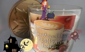 Review : Bath And Body Works 2016 Marshmallow Pumpkin Latte Fall Candle
