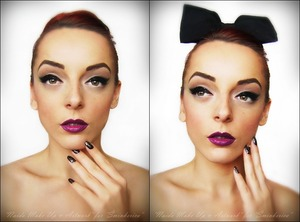 My fb page: https://www.facebook.com/pages/Naida-Make-up-and-Artwork/126464104080124 Tutorial: http://www.sminkerica.com/tutoriali/neo-pin-up-novogodisnji-make-up/