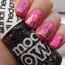 China Glaze - Shocking Pink With Models Own Ibiza Mix over the top