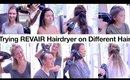 Testing REVAIR Hairdryer on Different Hair, Men & Women   Milabu