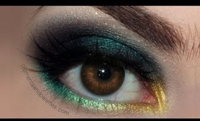 "Flower Inspired Summer Makeup Series - ""Dark Dandelions"" - Metallic Waterline Tutorial"