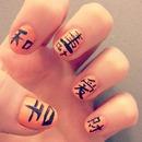 Chinese symbol nails!