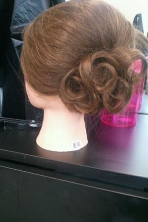 Poof and curls Updo