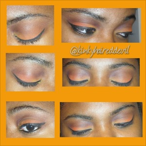 Look I created using my coastal scents 252 palette.