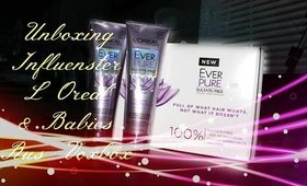 Unboxing Influenster's Loreal and BabiesRUs Voxbox