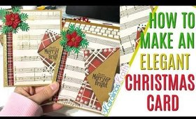 Easy Fold Elegant Christmas Card Tutorial, Elegant Christmas Card Ideas, 12 days of Christmas Day 12