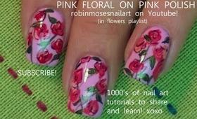 pink friday! pink polish pink roses ala robin moses rose nail art flower tutorial design 671