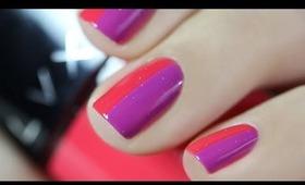 Nail Art facile bicolore | Vernis LVX