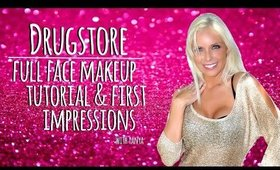 DRUGSTORE! Full Face Makeup Tutorial & First Impressions | Tanya Feifel-Rhodes